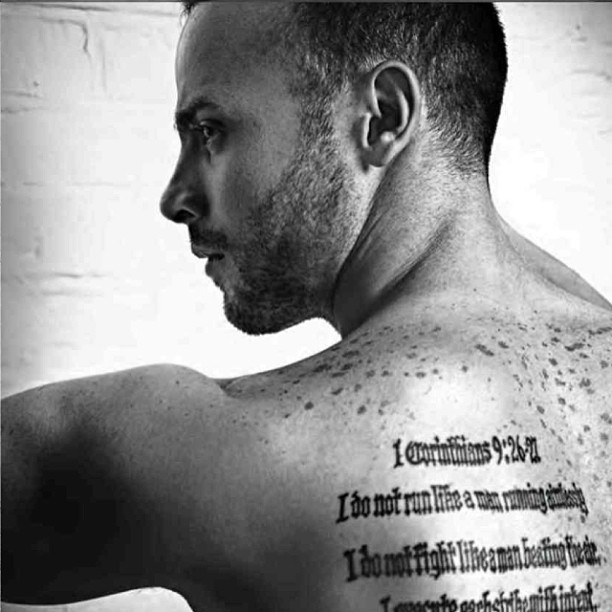 Oscar Pistorius Tattoo Inside Arm 1 Corinthians 9...