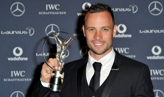 Oscar Pistorius wins Laureus Disability Award, 2012