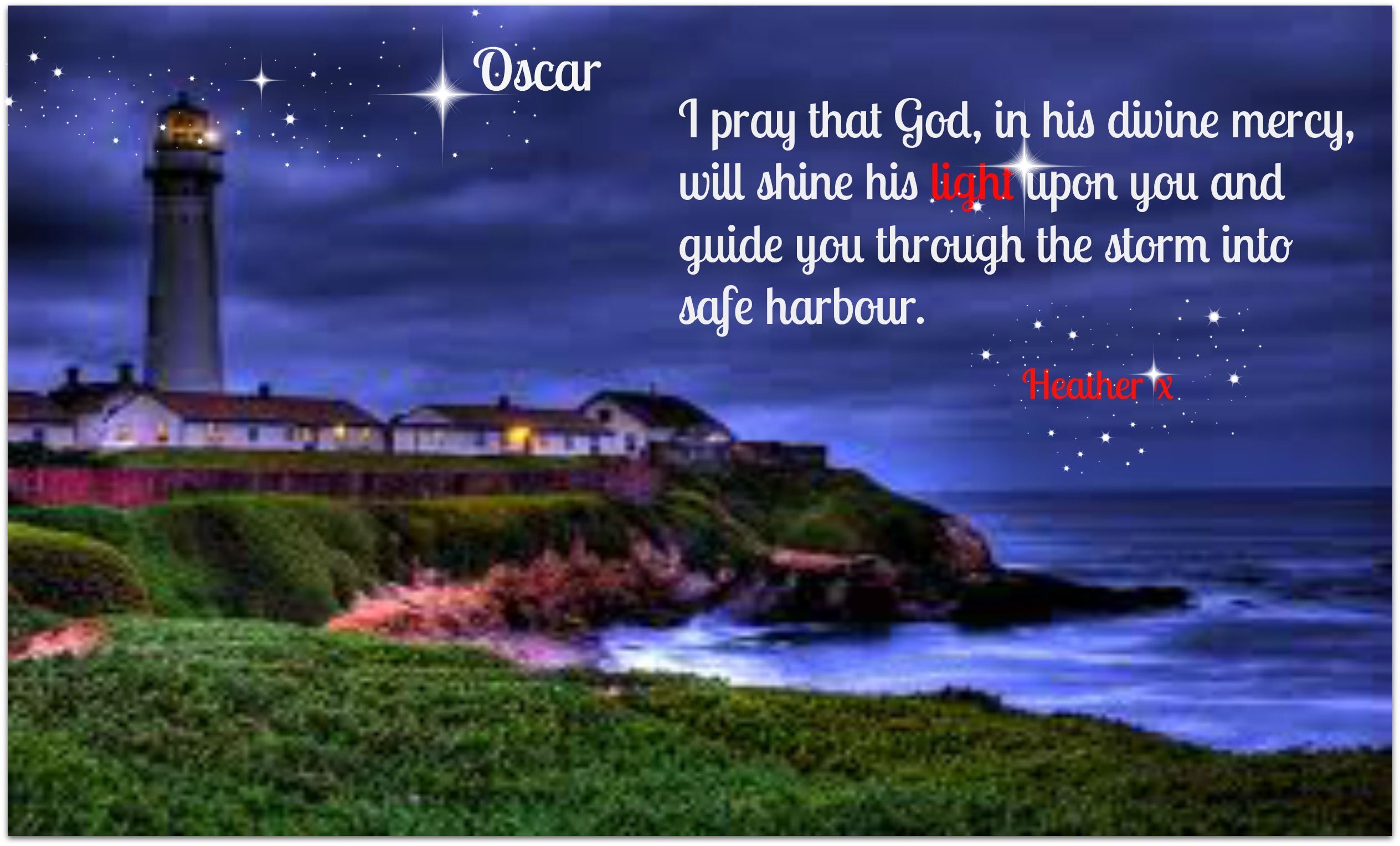 The Lord Is A Lighthouse on oscar pistorius quotes