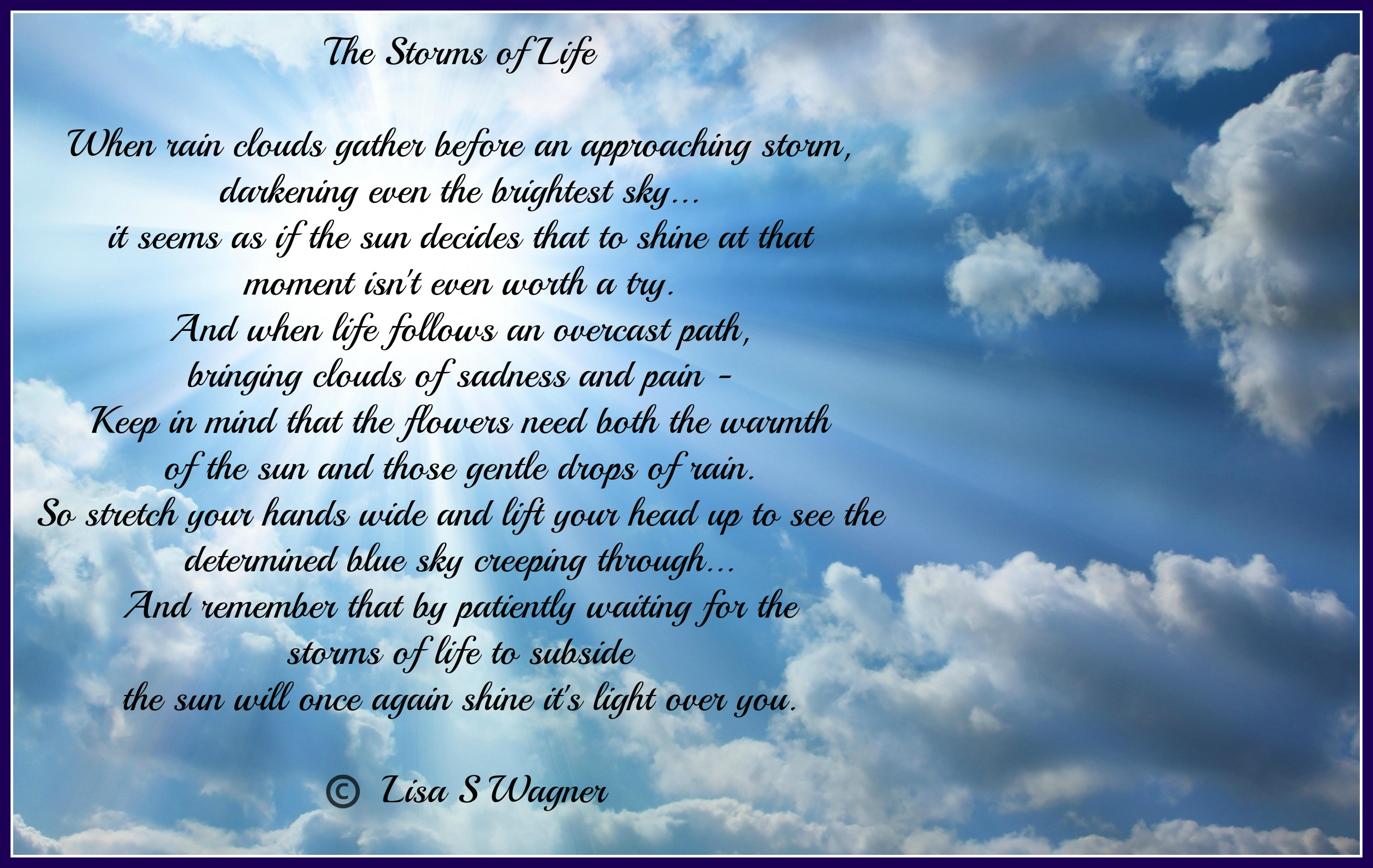 Poems And Quotes About Life The Storms Of Life  Support For Oscar Pistorius