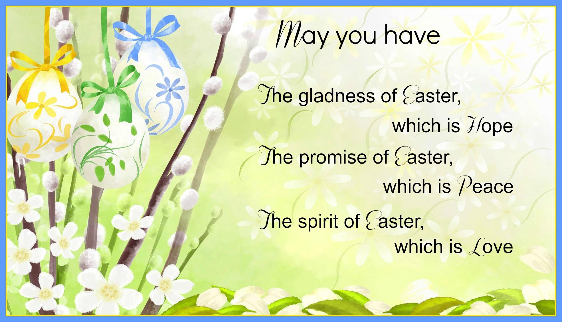 Easter Blessings | SUPPORT FOR OSCAR PISTORIUS