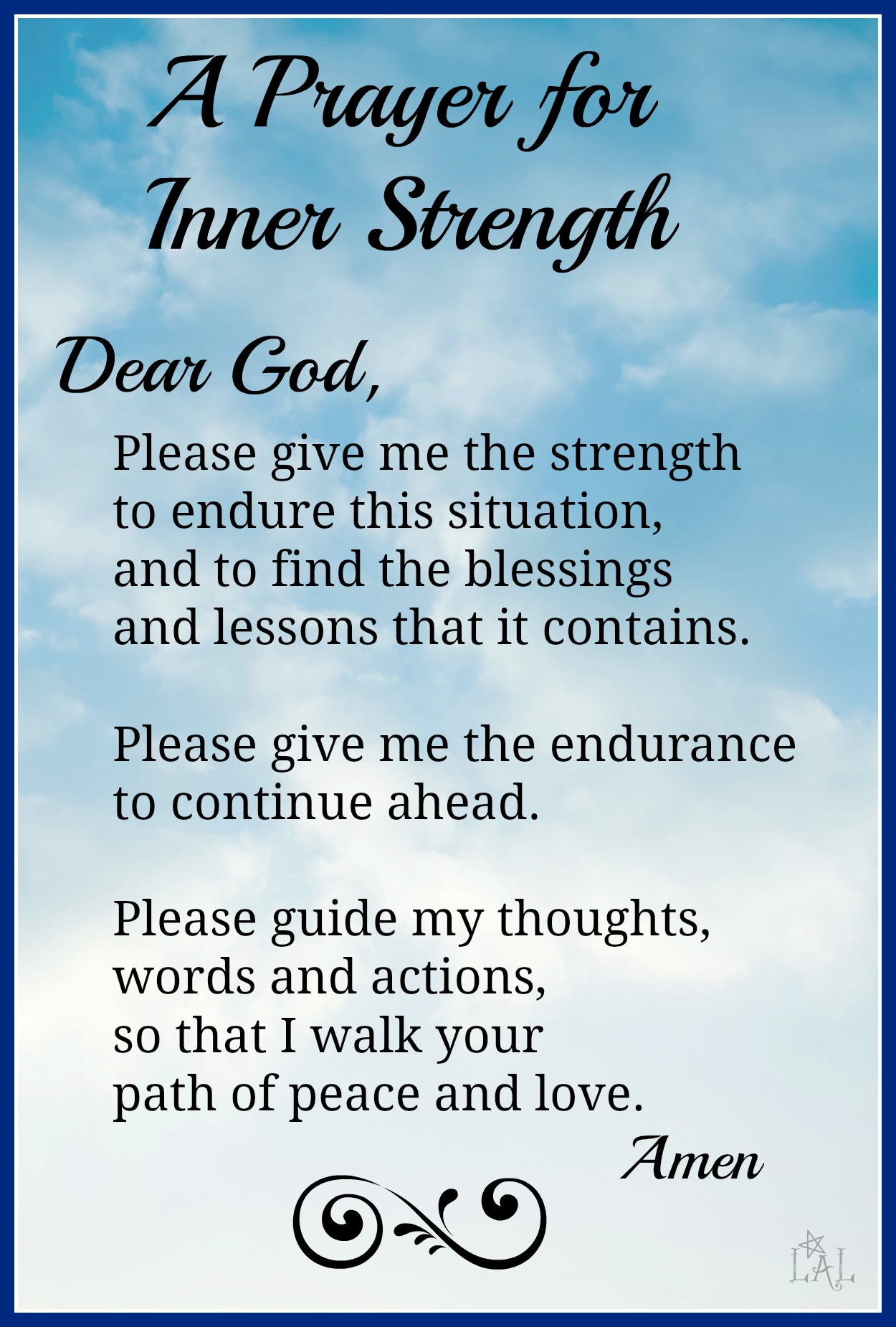 Prayer for Inner Strength | SUPPORT FOR OSCAR PISTORIUS
